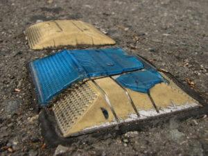Metal Road Reflectors Hitting Windshields